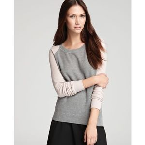Theory Cinda Cotton Cashmere Two-Tone Sweater